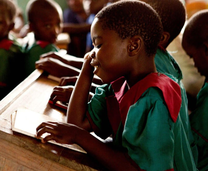 Desks are really important for primary education in Africa