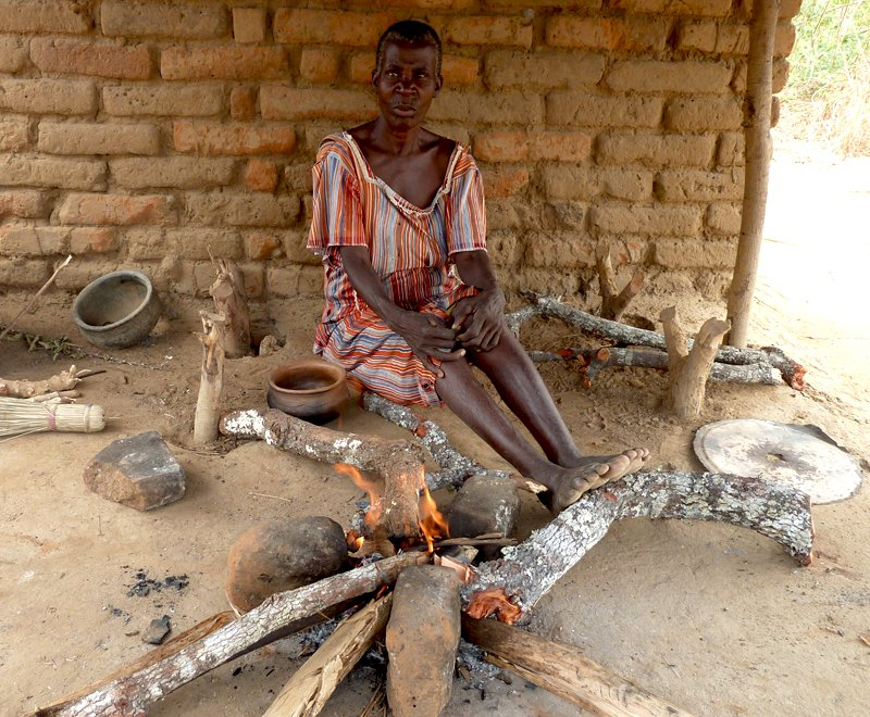 Traditional three-stone fire in Malawi