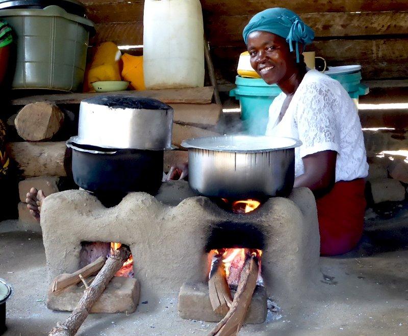 Our fuel-efficient cookstove helps offset your carbon footprint