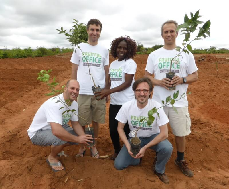 Corporate partner Fruitful Office visiting Ripple Africa in Malawi