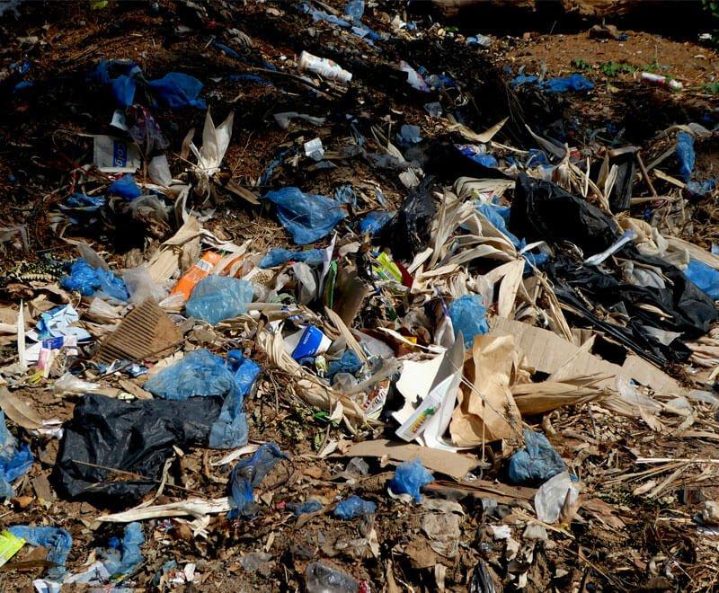 Plastic waste in Africa litters the roadside