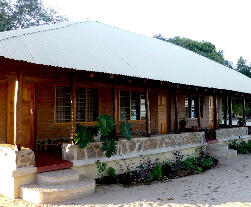 Visitor chalets at Lowani in Malawi