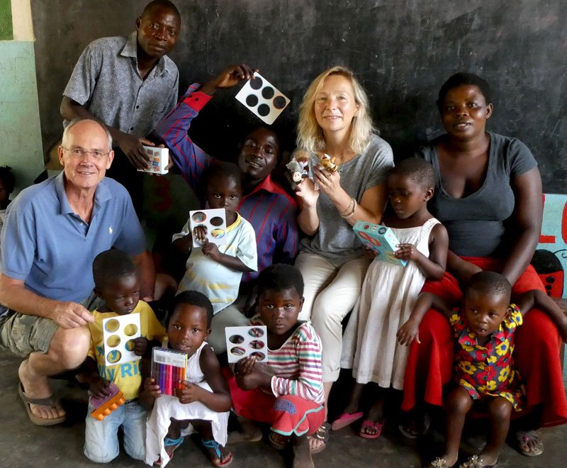 Visiting Malawi enabled this couple to visit our pre-schools