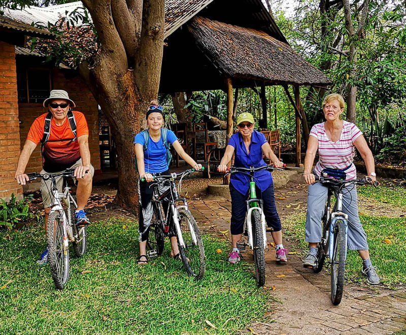 Volunteers use bicycles to get to placements which cost money to maintain in Africa